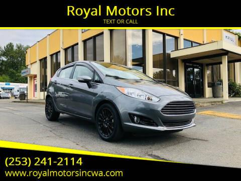2014 Ford Fiesta for sale at Royal Motors Inc in Kent WA