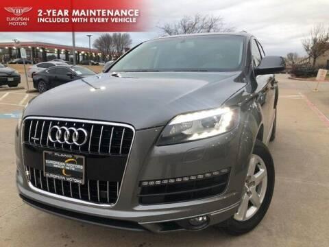 2015 Audi Q7 for sale at European Motors Inc in Plano TX