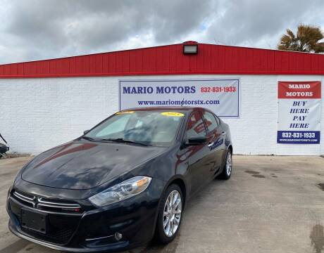2015 Dodge Dart for sale at Mario Motors in South Houston TX