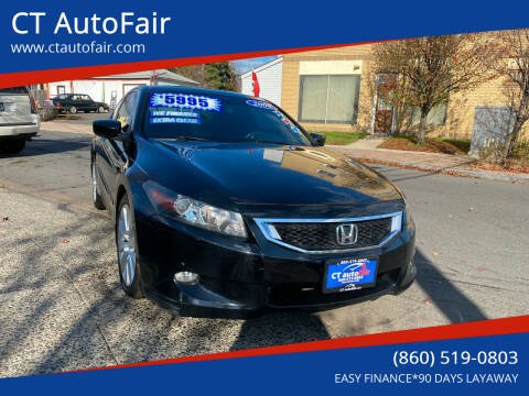 2008 Honda Accord for sale at CT AutoFair in West Hartford CT