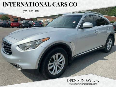 2012 Infiniti FX35 for sale at International Cars Co in Murfreesboro TN