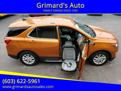 2018 Chevrolet Equinox for sale at Grimard's Auto in Hooksett, NH