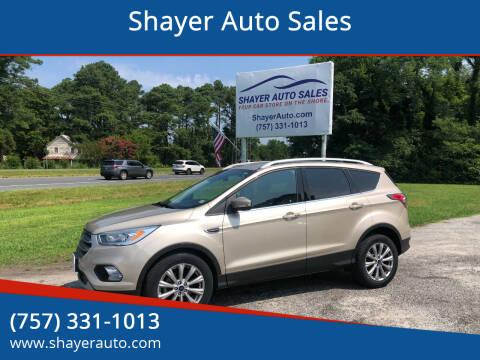 2017 Ford Escape for sale at Shayer Auto Sales in Cape Charles VA