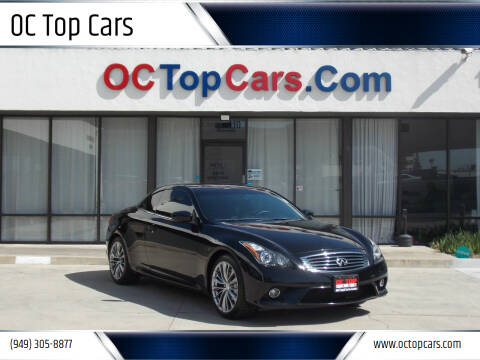 2011 Infiniti G37 Convertible for sale at OC Top Cars in Irvine CA
