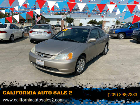 2002 Honda Civic for sale at CALIFORNIA AUTO SALE 2 in Livingston CA