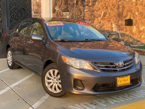 2013 Toyota Corolla for sale at Car Deal Auto Sales in Sacramento CA