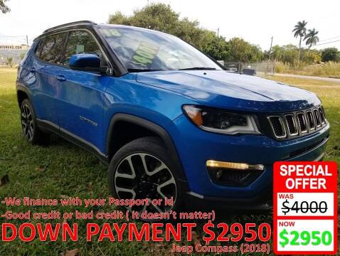 2018 Jeep Compass for sale at AUTO COLLECTION OF SOUTH MIAMI in Miami FL