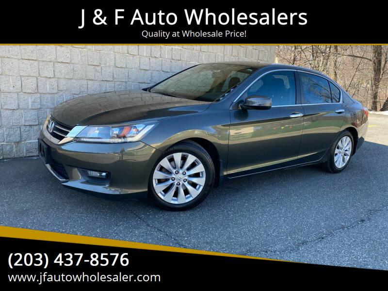 2014 Honda Accord for sale at J & F Auto Wholesalers in Waterbury CT