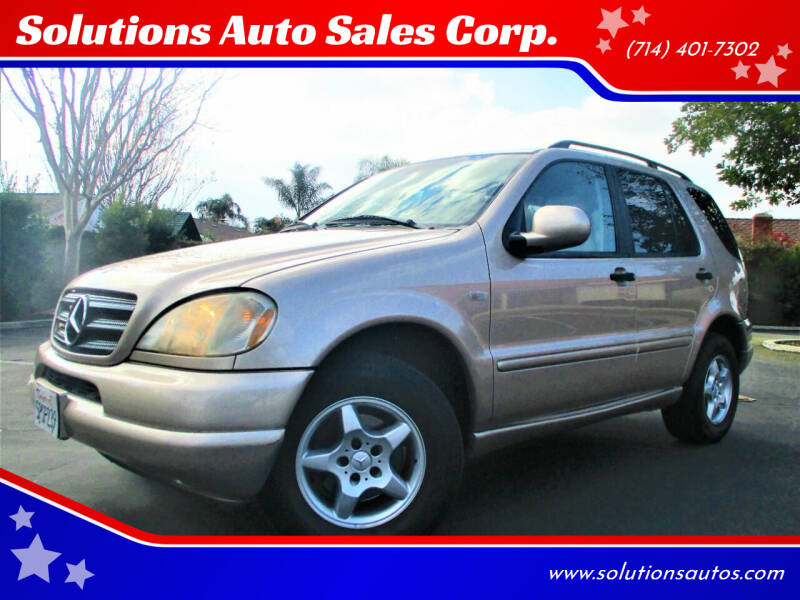 2001 Mercedes-Benz M-Class for sale at Solutions Auto Sales Corp. in Orange CA