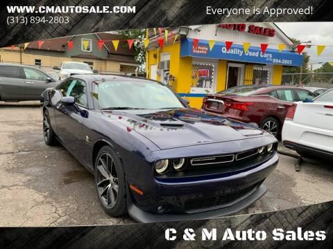 2016 Dodge Challenger for sale at C & M Auto Sales in Detroit MI