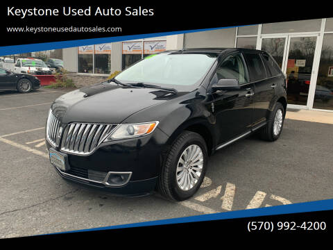 2012 Lincoln MKX for sale at Keystone Used Auto Sales in Brodheadsville PA