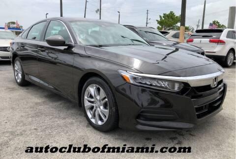 2018 Honda Accord for sale at AUTO CLUB OF MIAMI in Miami FL