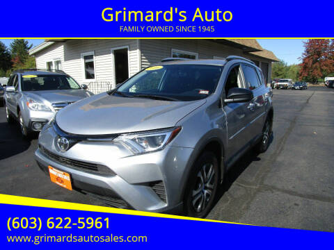 2016 Toyota RAV4 for sale at Grimard's Auto in Hooksett, NH