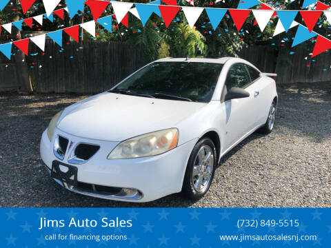2009 Pontiac G6 for sale at Jims Auto Sales in Lakehurst NJ