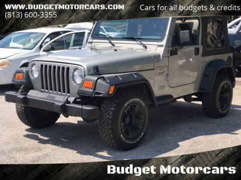 2001 Jeep Wrangler for sale at Budget Motorcars in Tampa FL