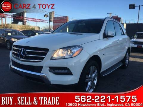 2012 Mercedes-Benz M-Class for sale at Carz 4 Toyz in Inglewood CA
