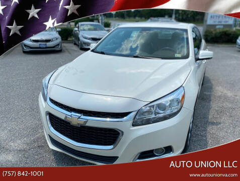 2014 Chevrolet Malibu for sale at Auto Union LLC in Virginia Beach VA