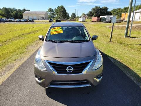 2017 Nissan Versa for sale at Auto Guarantee, LLC in Eunice LA
