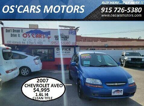2007 Chevrolet Aveo for sale at Os'Cars Motors in El Paso TX