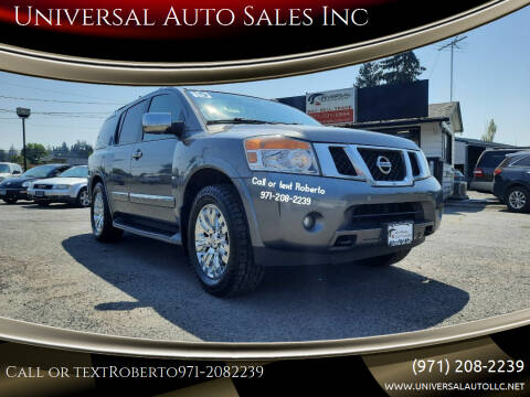 2015 Nissan Armada for sale at Universal Auto Sales Inc in Salem OR