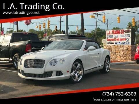 2012 Bentley Continental for sale at L.A. Trading Co. Woodhaven in Woodhaven MI