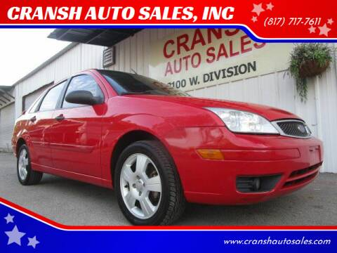 2007 Ford Focus for sale at CRANSH AUTO SALES, INC in Arlington TX