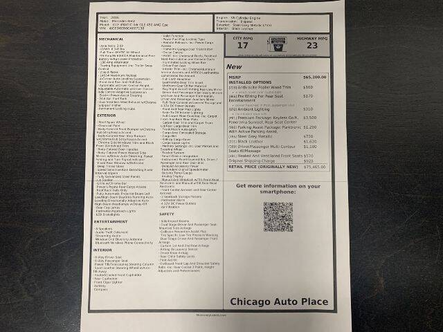 2016 Mercedes-Benz GLE for sale at Chicago Auto Place in Bensenville IL