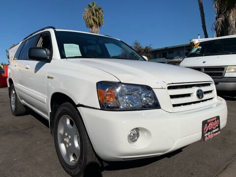 2005 Toyota Highlander for sale at CARCO SALES & FINANCE #2 in Chula Vista CA