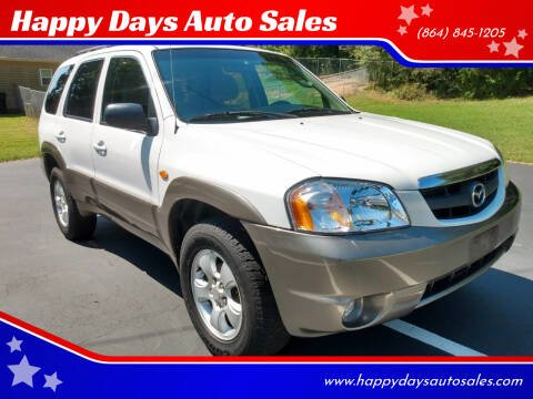 2004 Mazda Tribute for sale at Happy Days Auto Sales in Piedmont SC