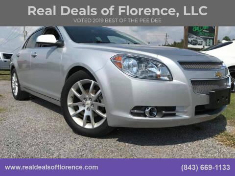 2012 Chevrolet Malibu for sale at Real Deals of Florence, LLC in Effingham SC