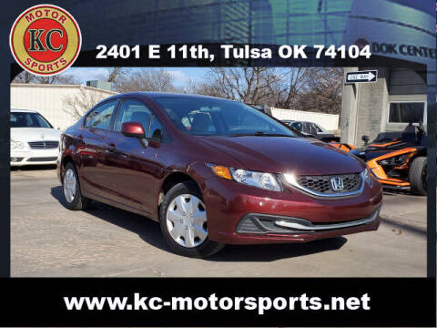 2013 Honda Civic for sale at KC MOTORSPORTS in Tulsa OK