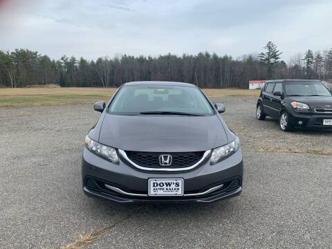 2013 Honda Civic for sale at DOW'S AUTO SALES in Palmyra ME