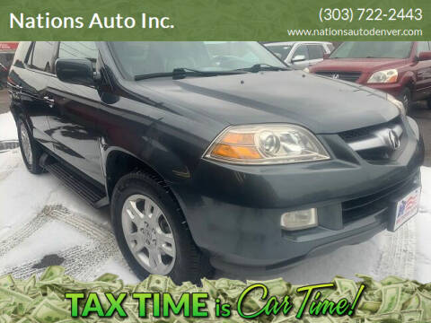 2006 Acura MDX for sale at Nations Auto Inc. in Denver CO