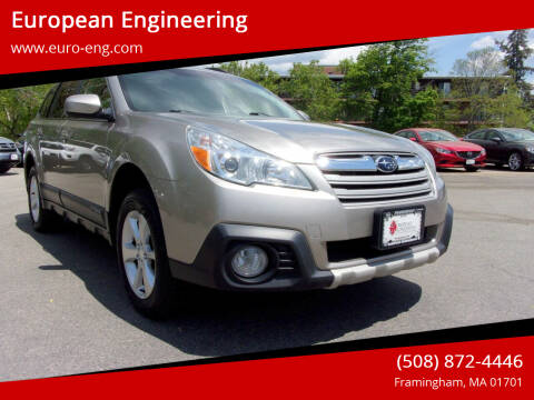 2014 Subaru Outback for sale at European Engineering in Framingham MA