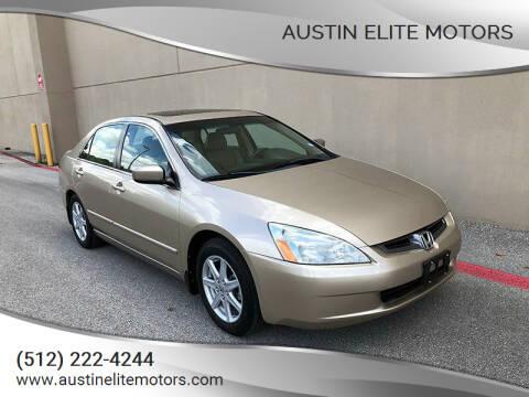 2004 Honda Accord for sale at Austin Elite Motors in Austin TX