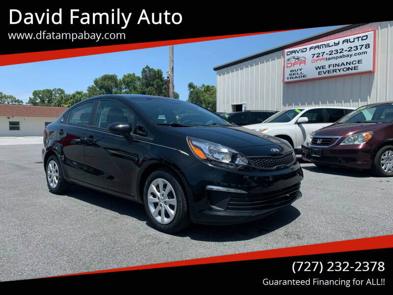 2017 Kia Rio for sale at David Family Auto in New Port Richey FL