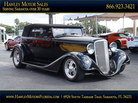 1934 Chevrolet PHAETON for sale at Hawley Motor Sales in Sarasota FL