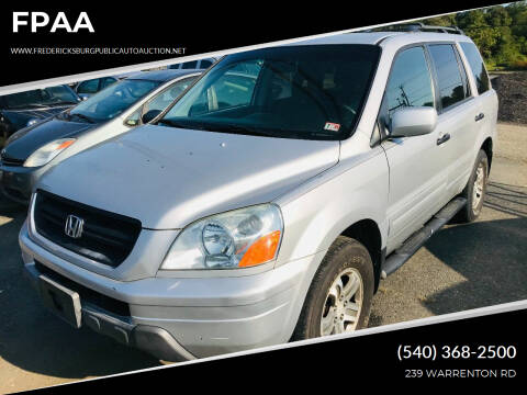 2003 Honda Pilot for sale at FPAA in Fredericksburg VA