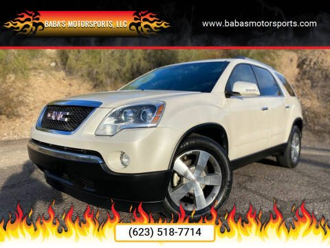 2011 GMC Acadia for sale at Baba's Motorsports, LLC in Phoenix AZ