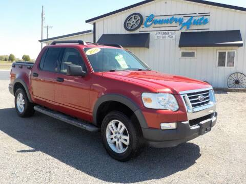 2010 Ford Explorer Sport Trac for sale at Country Auto in Huntsville OH