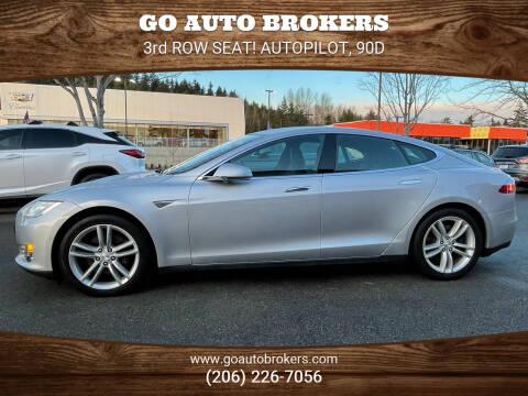 2016 Tesla Model S for sale at GO AUTO BROKERS in Bellevue WA