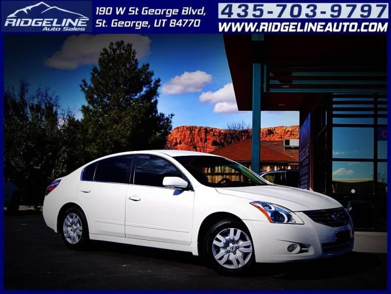 2012 Nissan Altima for sale at Ridgeline Auto Sales in Saint George UT