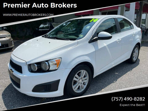 2014 Chevrolet Sonic for sale at Premier Auto Brokers in Virginia Beach VA