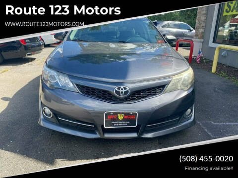 2014 Toyota Camry for sale at Route 123 Motors in Norton MA