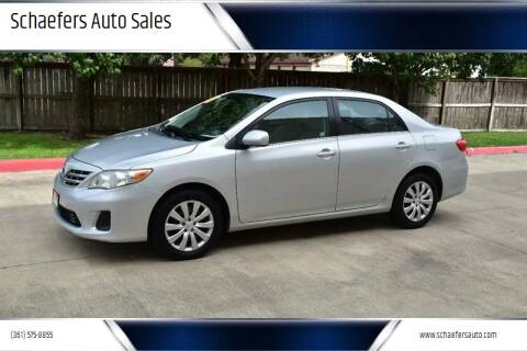 2013 Toyota Corolla for sale at Schaefers Auto Sales in Victoria TX