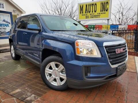 2016 GMC Terrain for sale at M AUTO, INC in Millcreek UT
