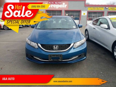 2014 Honda Civic for sale at A&A AUTO in Fairhaven MA