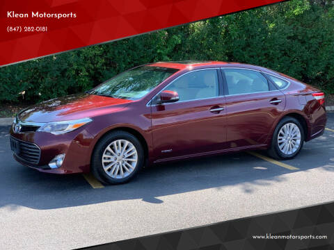 2013 Toyota Avalon Hybrid for sale at Klean Motorsports in Skokie IL