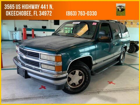 1999 Chevrolet Tahoe for sale at M & M AUTO BROKERS INC in Okeechobee FL
