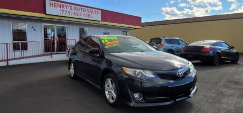 2014 Toyota Camry for sale at Henry's Autosales, LLC in Reno NV